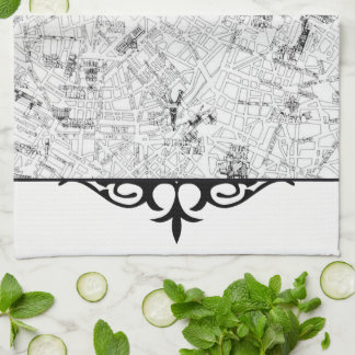 Paris Map Tea Towel