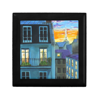 Paris memories Eiffel tower Small Square Gift Box