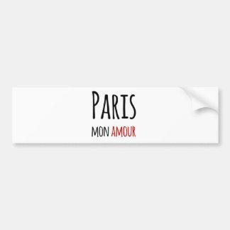 Paris, Mon amour Bumper Sticker