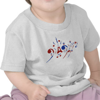 Paris Musical Notes Baby T-Shirt