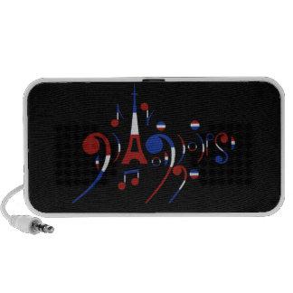 Paris Musical Notes iPod Speaker