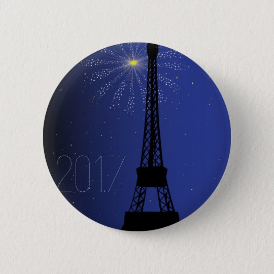Paris Night 2017 6 Cm Round Badge