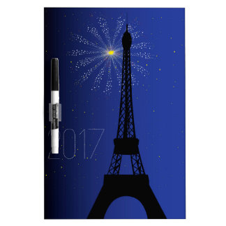 Paris Night 2017 Dry Erase Board