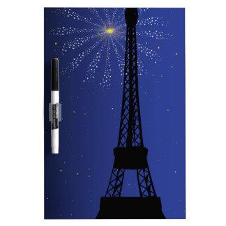Paris Night Dry Erase Whiteboard