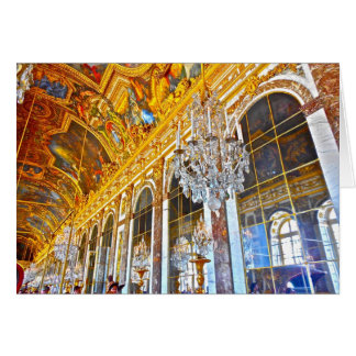 Paris note card featuring the Palace of Versailles