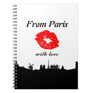 Paris Notebook, with coils Notebook