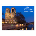 Paris - Notre Dame at night postcard