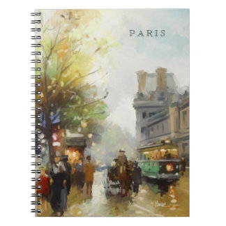Paris on a Rainy Day. Watercolor. Gift Notebook