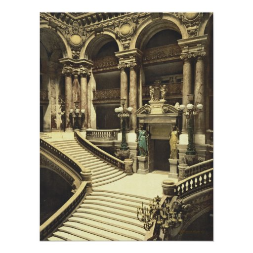 Paris Opera House Grand Saircase Poster