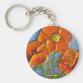 Paris' Orange Poppy Keychain