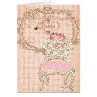 Paris Paris Royal Pink de la Queen's Chair Card