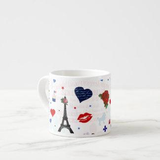 Paris pattern with Eiffel Tower Espresso Cup