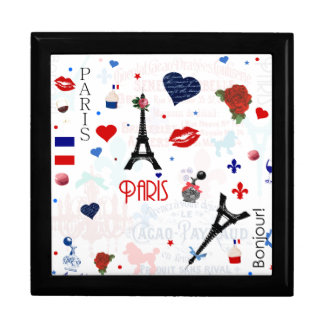 Paris pattern with Eiffel Tower Gift Box