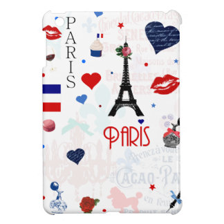 Paris pattern with Eiffel Tower iPad Mini Covers