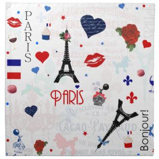 Paris pattern with Eiffel Tower Napkin