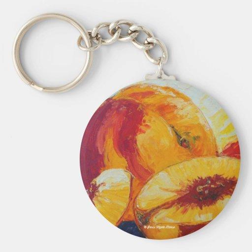 Paris' Peaches Keychains