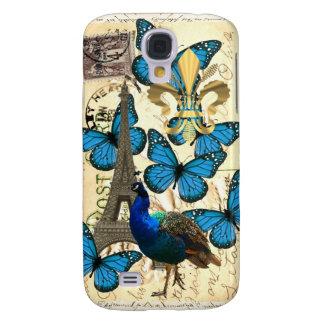 Paris, peacock and butterflies galaxy s4 case