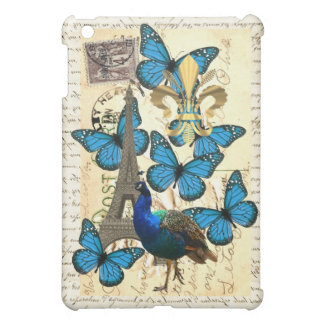 Paris, peacock and butterflies iPad mini cover
