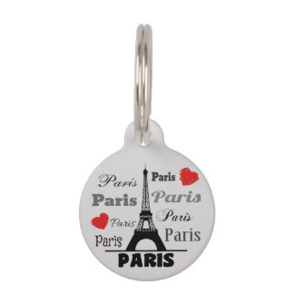 Paris Pet ID Tag