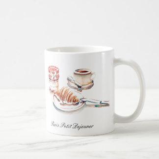 Paris Petit Degeuner Coffee Cup Basic White Mug