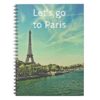 Paris Photo Notebook with Eiffel Tower
