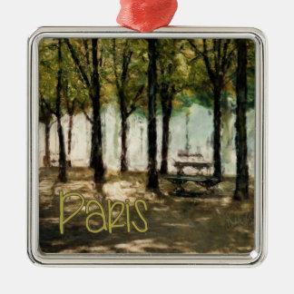 Paris Picnic Park on Avenue des Champs-Elysees Ornaments