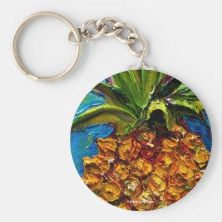 Paris' Pineapple Basic Round Button Key Ring
