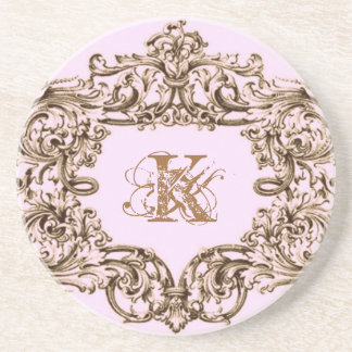 PARIS PINK BAROQUE CUSTOMIZABLE COASTER