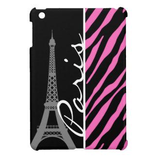 Paris; Pink & Black Zebra Print iPad Mini Covers