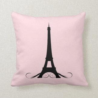 Paris Pink Eiffel Tower Cushion