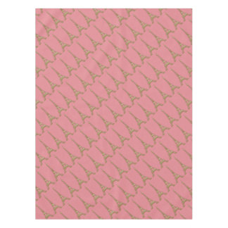 Paris Pink Eiffel Tower Tablecloth