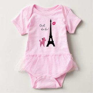 Paris Pink Poodle TuTu Bodysuit