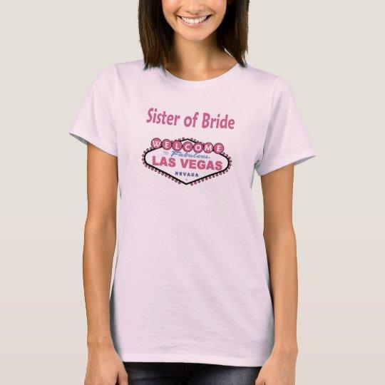 Paris Pink Sister of Bride Baby Doll Tee