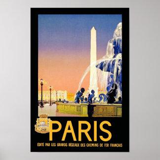 Paris Place del la Concorde Posters