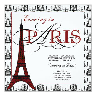 Paris Prom Invitations