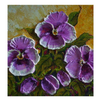 Paris' Purple Pansies Fine Art Poster