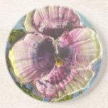 Paris' Purple Pansy Coaster