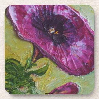 Paris Purple Petunia Coasters