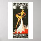 Paris qui brille Mistinguett French cabaret Poster