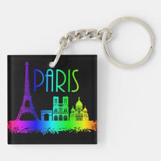Paris Rainbow Monuments Eiffel Tower Key Ring