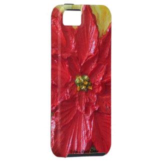 Paris' Red Poinsettia iPhone 5 Case