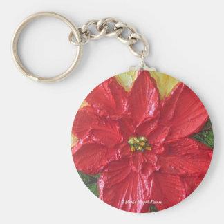 Paris Red Poinsettia Key Chains
