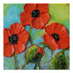 Paris' Red Poppies Fine Art Poster