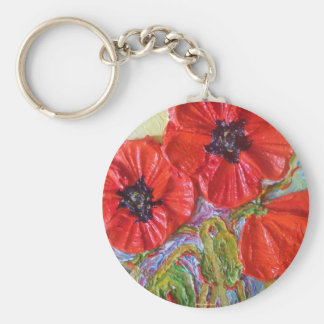 Paris' Red Poppies II Key Ring
