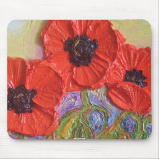 Paris' Red Poppies Mouse Mat