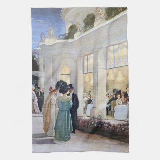 Paris Restaurant France 1900 Fashion Kitchen Towel