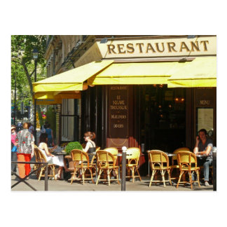 Paris Restaurant Postcard