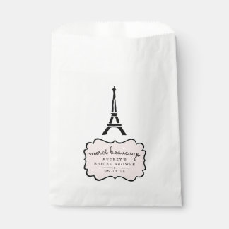 Paris Romance Eiffel Tower Bridal Shower Favour Bags