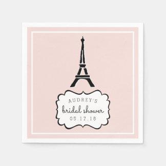 Paris Romance | Eiffel Tower Bridal Shower Paper Serviettes