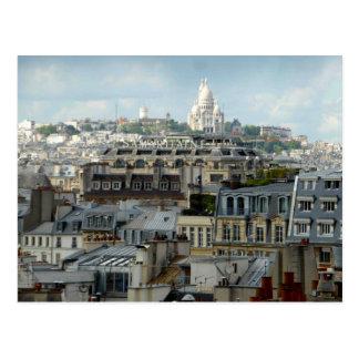 Paris Rooftops and Sacre Coeur Postcard